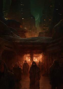 The emperor in the streets of Arrakeen