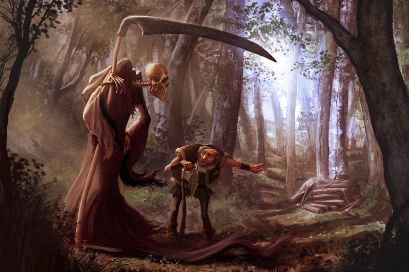 La mort et le bucheron