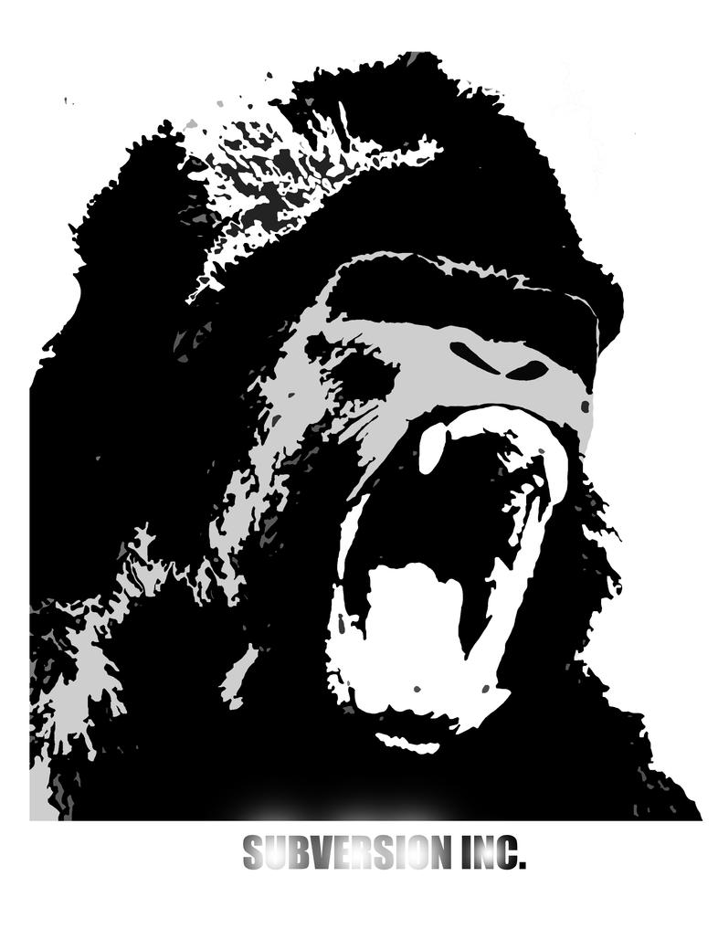 Mean Gorilla Face Drawing - photo#29