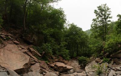 Hike down the falls