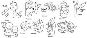 Chibi eeveelutions patterns
