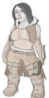 Dwarven Huntress - Amdis Farband