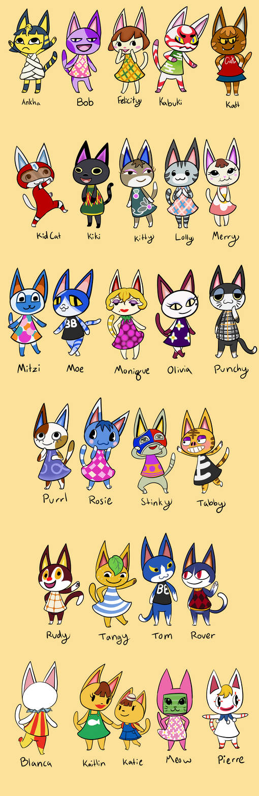 Animal Crossing Cats By Kinkokitty On Deviantart