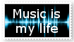 Music is my life stamp by VexFox