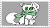 Scarf cat stamp by VexFox