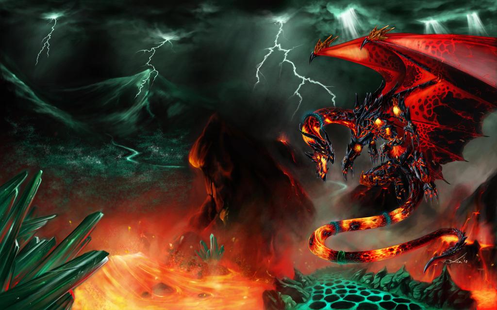 Wrath Drake Wallpaper by Tanathiel