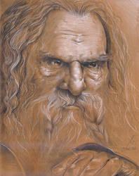 Portrait of Gimli by Tanathiel