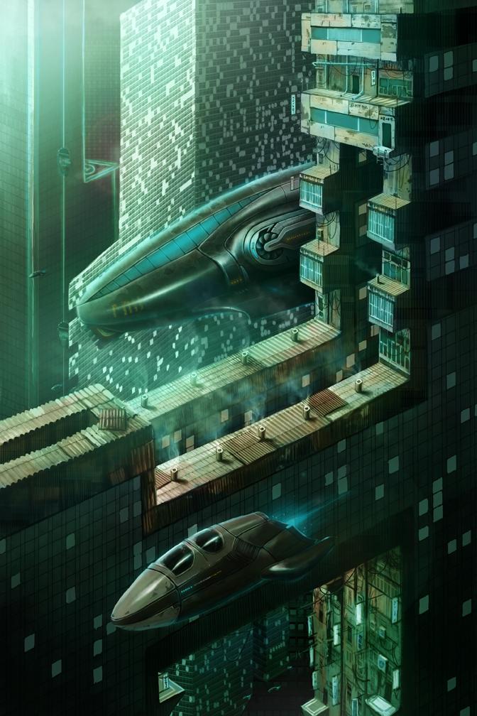Sci fi city by Bone-Fish14