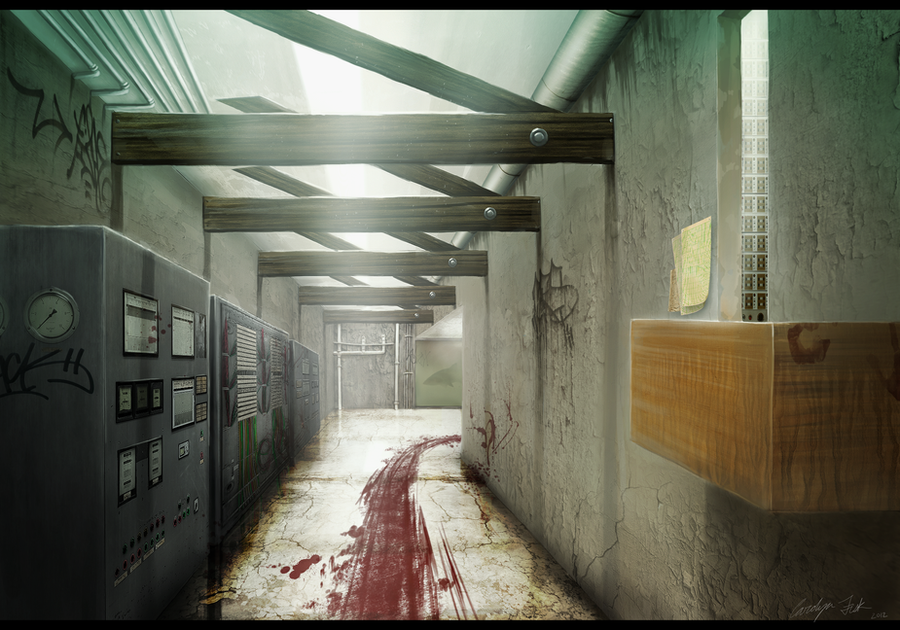 Service Hallway by Bone-Fish14
