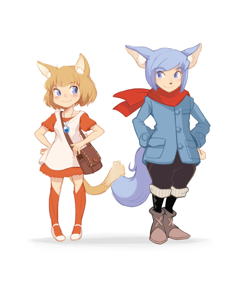 Annika and Thomas OriginalGame characters by kamipallet
