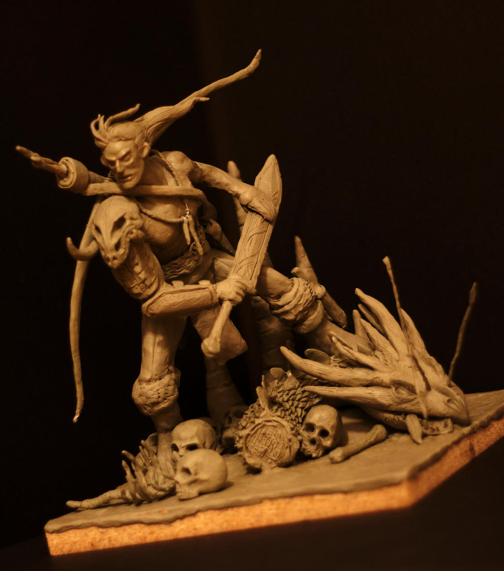 Warrior clay sculpture by nobackstreetboys on deviantart