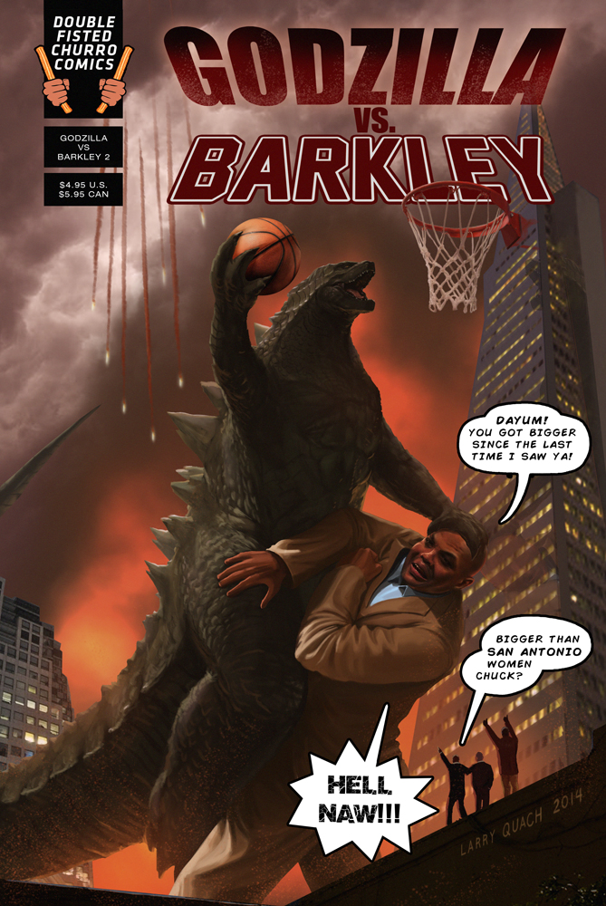 Godzilla Comic Book Cover w text by NoBackstreetboys