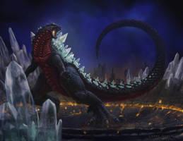 Space Godzilla Resdesign by NoBackstreetboys