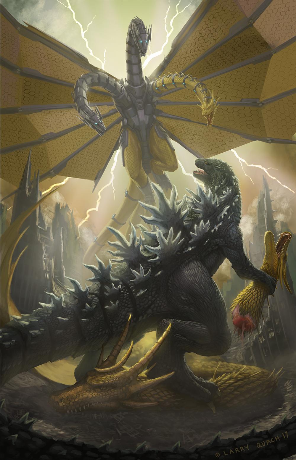 Godzilla Vs Mecha Ghidorah by NoBackstreetboys
