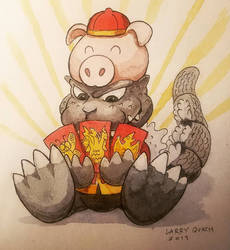 Happy Year of The Pig Godzilla!