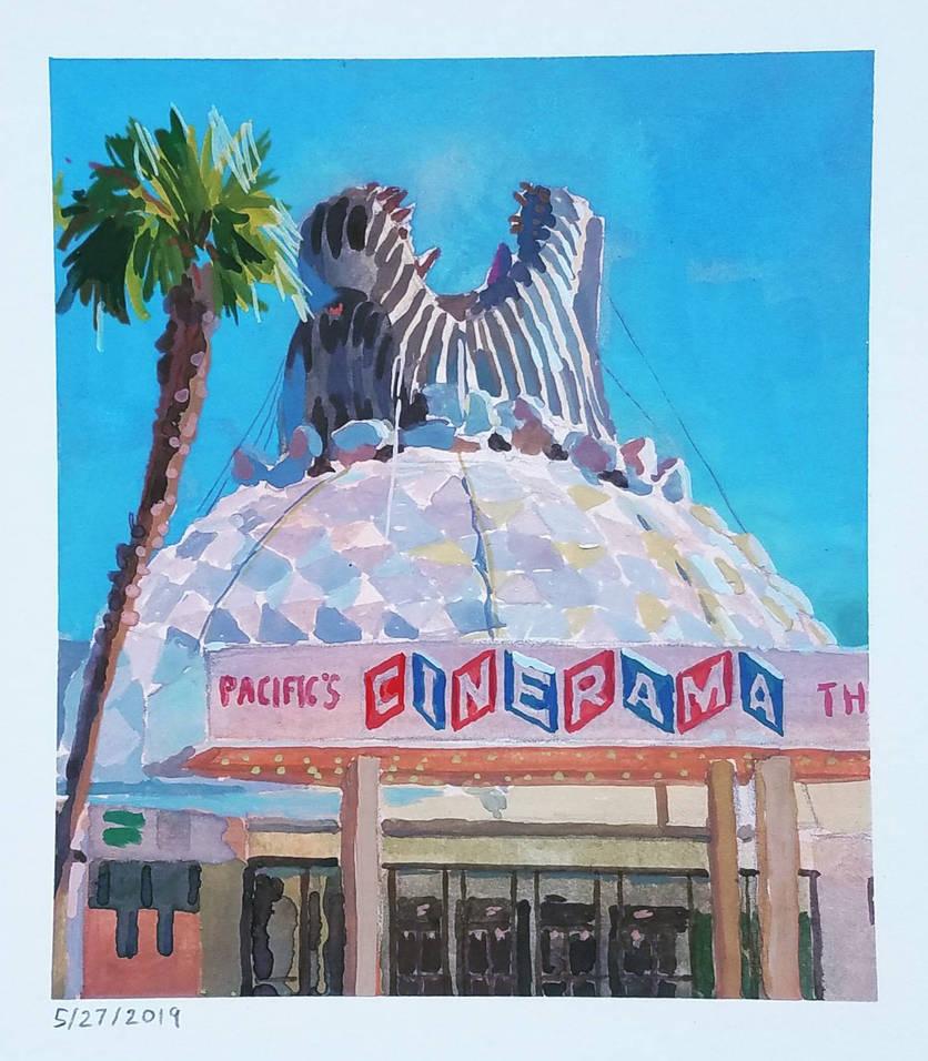 Plein-air of Godzilla at the Cinerama Dome by NoBackstreetboys