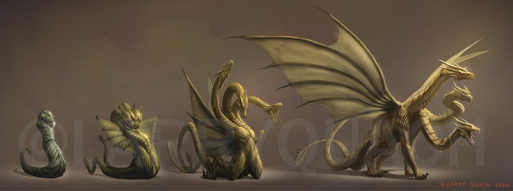Monster X to Keizer Ghidorah Lifecycle