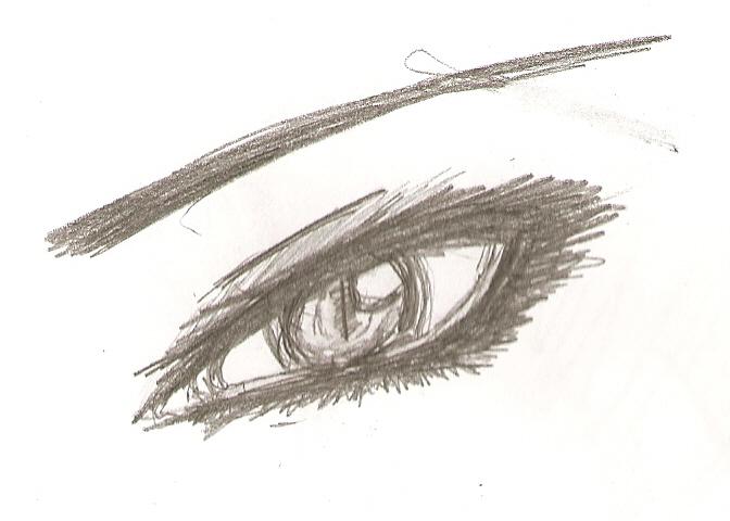 evil eye sketch by fluffy-lover on DeviantArt