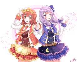 Miyuki and Kanon - Sunshine and Moonlight by mifuzuku