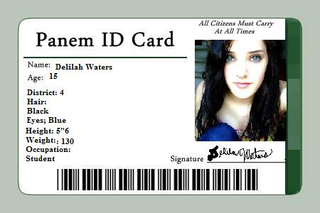 Panem ID- Delilah Waters by CareerFromDistrict4