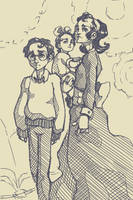Baudelaire Orphans from daily doodles. by LiarJohnny