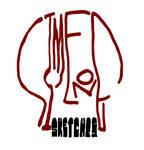 Simeone Sketches Skull - White