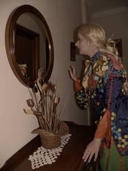 This mirror...looks...weird...