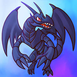 Red Eyes Toon Dragon by hopelessparadox