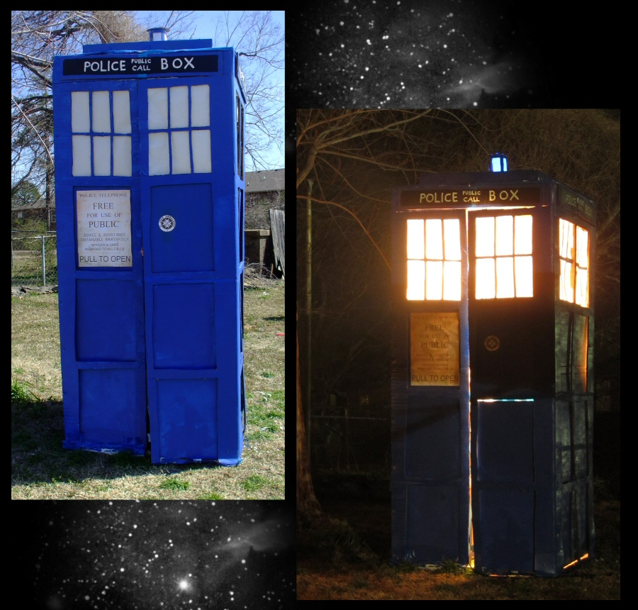 Homemade TARDIS build by EruwaedhielElleth