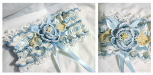 Crochet wedding garter