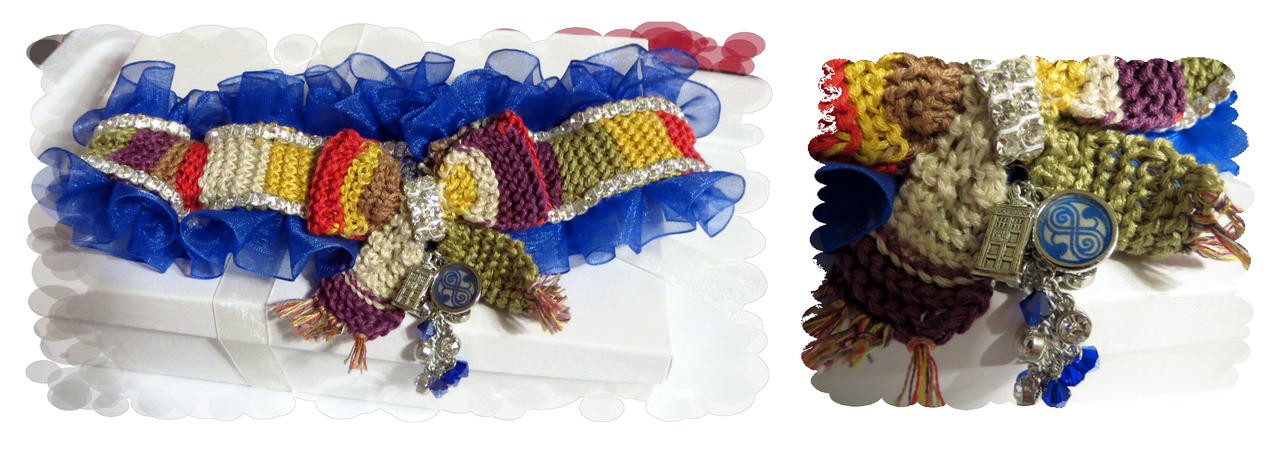 Doctor Who wedding garter by EruwaedhielElleth