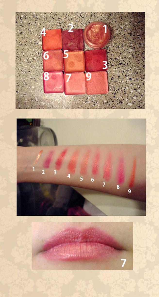 Homemade Lipstick Swatches by EruwaedhielElleth on DeviantArt