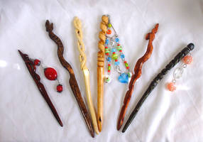 collection of hair sticks