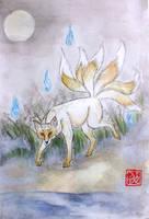 Midnight Kitsune by EruwaedhielElleth