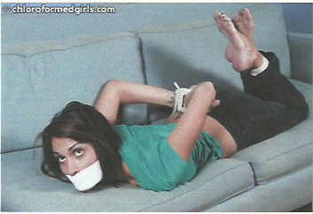 Bound gagged and bare foot