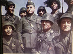 WW2-Italian troops with General Giorgio Messe