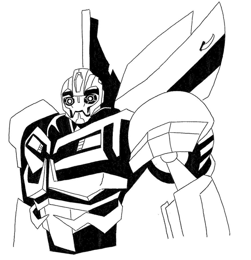 transformers coloring pages pdf - bumblebee transformers prime by thekymeric on deviantart