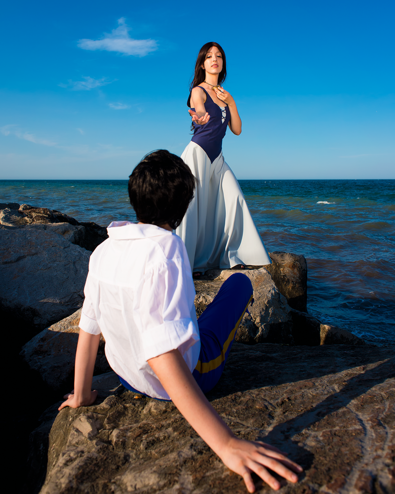 The Little Mermaid cosplay: Vanessa and Eric by Adurnah
