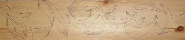 pen on wood