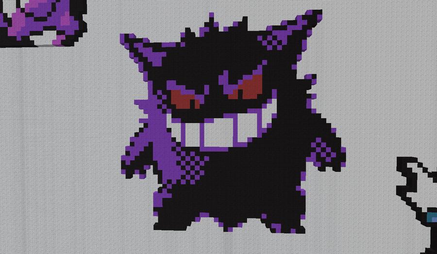 Pixel Gengar Pokemon by BannerWolf on DeviantArt