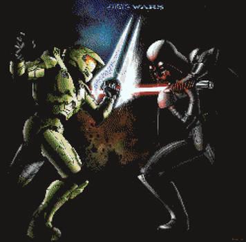 Halo VS Star Wars by BannerWolf