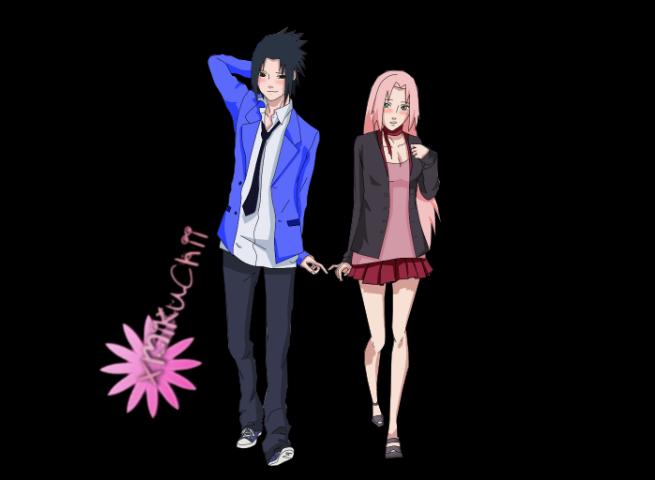 Sasuke and Sakura Render by xMikuChii