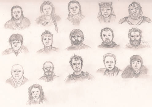 Game Of Thrones Character sketches 1