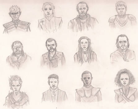 Game Of Thrones Character sketches 2
