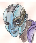 Guardians of the Galaxy - Nebula by MadnessIsRising
