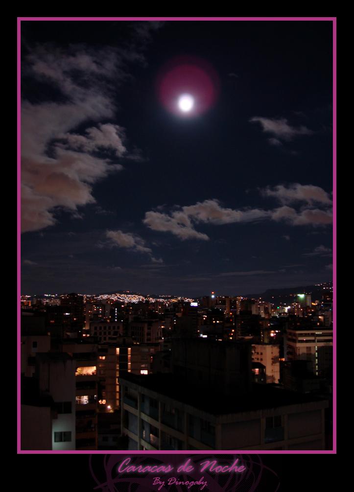 Caracas at night by Dinogaby