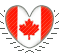 Canada Heart Stamp by Dinogaby