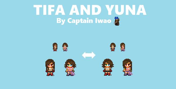 Tifa And Yuna by CaptainIwao