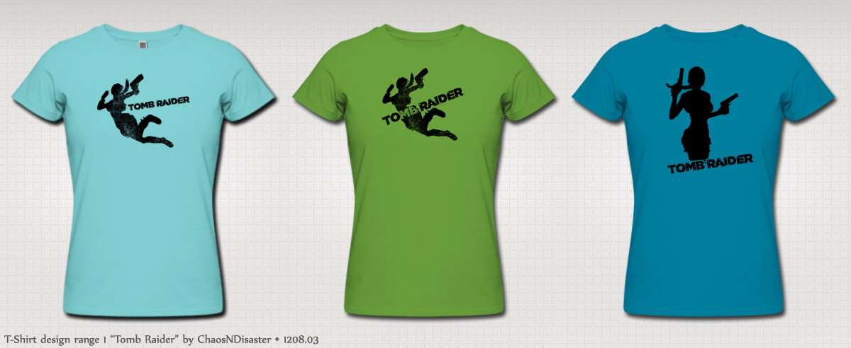 tomb raider logo t-shirt