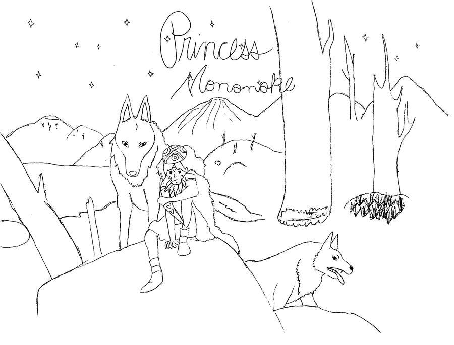 Princess Mononoke Coloring Pages